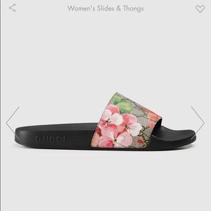 fcffaa154 Women Gucci Floral Slides on Poshmark